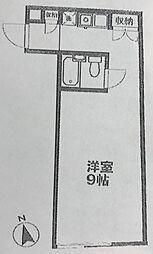 東京都新宿区荒木町の賃貸マンションの間取り