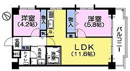 パークナオマンション[4階]の間取り