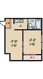 ポワール寺地[1階]の間取り