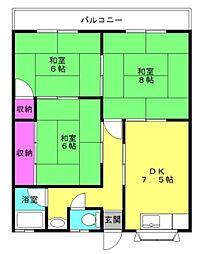 谷口マンション[1階]の間取り