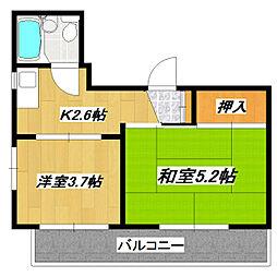 新小岩宝マンション[305号室]の間取り