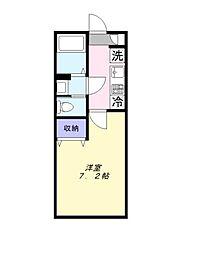 千葉県鎌ケ谷市北中沢2丁目の賃貸アパートの間取り