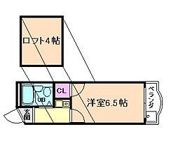 千代松マンション[2階]の間取り
