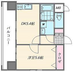 サンネストピア箱崎駅前[305号室]の間取り