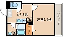 シーズ・ガレリア目黒 2階1Kの間取り