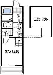 プラージュ鶴見[2階]の間取り