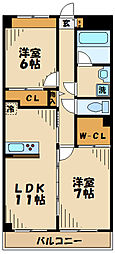 神奈川県川崎市麻生区片平7丁目の賃貸マンションの間取り