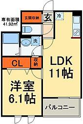 JR総武線 稲毛駅 バス20分 京葉自動車教習所入口下車 徒歩3分の賃貸マンション 2階1LDKの間取り