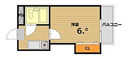 カサ・デ・リコ[3階]の間取り