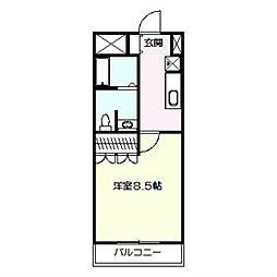 アンブル鎌倉[103号室]の間取り
