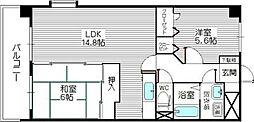 コスモ松島[8階]の間取り