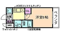 エスリード福島WEST[11階]の間取り