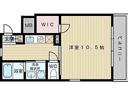 豊里セレニテ[2階]の間取り