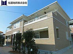 愛知県豊橋市西岩田3丁目の賃貸アパートの外観