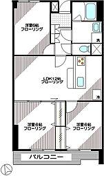 パークハイツ松原[102号室]の間取り