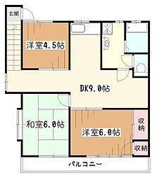 エスカイヤウチノI[2階]の間取り