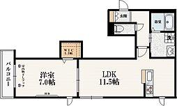 (仮称)上十条1丁目メゾン 3階1LDKの間取り