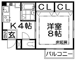 マンションファミーユ[2階]の間取り