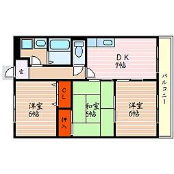 エスペランサ2[3階]の間取り