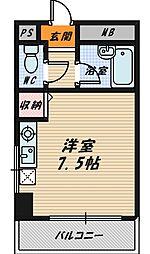 大阪府大阪市城東区成育2丁目の賃貸マンションの間取り