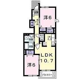 ポワール[1階]の間取り
