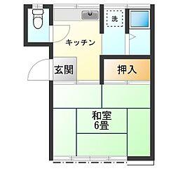 東京都杉並区大宮2丁目の賃貸アパートの間取り
