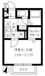 東京都練馬区関町北5丁目の賃貸アパートの間取り