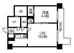 レジディア札幌駅前[5階]の間取り