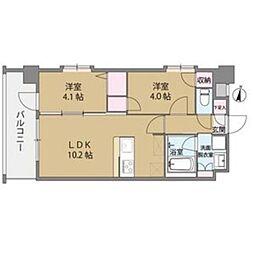 クリスタル&リゾートスカイプレミア[6階]の間取り