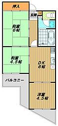 ワコーハイツ西神戸[2階]の間取り