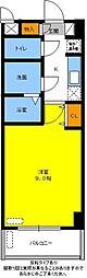 名鉄豊田線 黒笹駅 徒歩3分の賃貸マンション 3階1Kの間取り