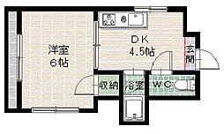 メゾンド草香江[201号室]の間取り