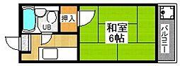 コーポ近藤[301号室]の間取り