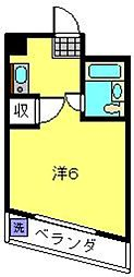 神奈川県横浜市磯子区滝頭3丁目の賃貸マンションの間取り