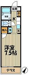 アマンヴィラ鎌倉[1-C号室]の間取り