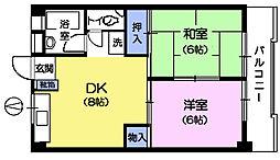 第2長谷川マンション[3階]の間取り