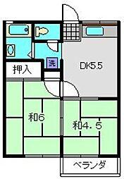 コーポふじまき[201号室]の間取り