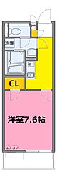 東武野田線 藤の牛島駅 徒歩22分の賃貸マンション 2階1Kの間取り