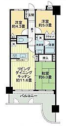 ライオンズマンション西神戸[9階]の間取り