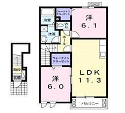 セトルYUUZAKI[2階]の間取り