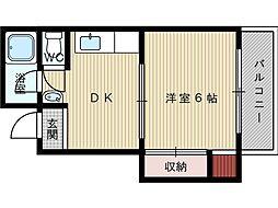 岡本駅前マンション[2階]の間取り