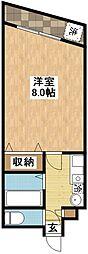 長崎県長崎市光町の賃貸マンションの間取り