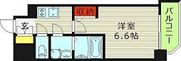 エスリード京橋セントラル 15階1Kの間取り