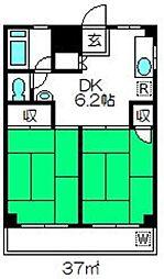 埼玉県さいたま市岩槻区諏訪2丁目の賃貸アパートの間取り