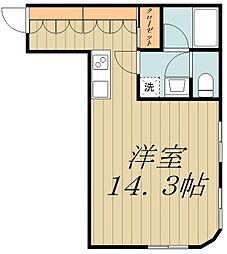 コレクション吉祥寺東 3階ワンルームの間取り