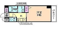ドゥーエ立売堀[6階]の間取り