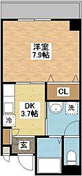 長崎県長崎市大橋町の賃貸マンションの間取り