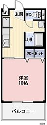 名鉄羽島線 新羽島駅 5.3kmの賃貸アパート 2階1Kの間取り
