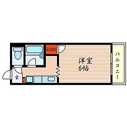 滋賀県彦根市大藪町の賃貸アパートの間取り