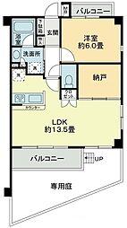 藤和ライブタウン国分寺 1階1SLDKの間取り